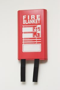 A Wall Mounted Fire Blanket